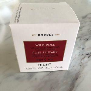Korres wild rose vitamin c brightening night cream